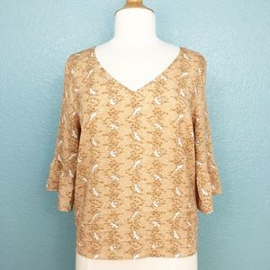 Anthropologie | Pins and Needles Bird Blouse